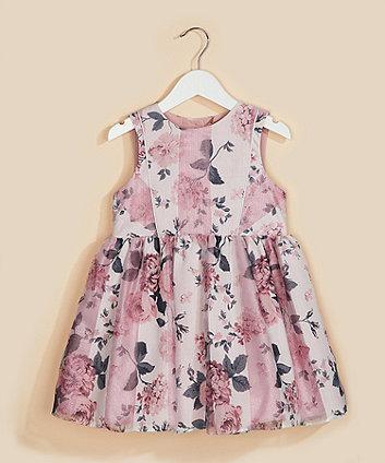 floral organza prom dress