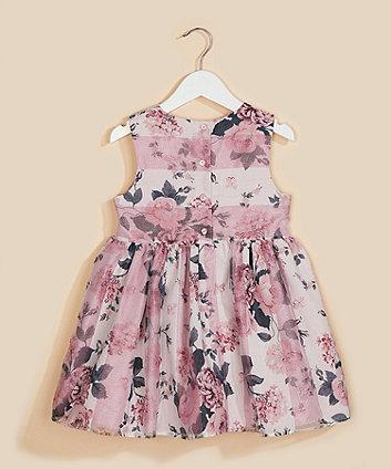 organza floral prom dress