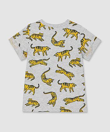 my k grey tiger t-shirt