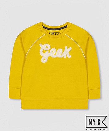 my k mustard geek sweat top