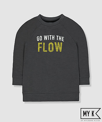 my k grey go with the flow sweat top