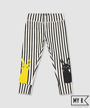 my k stripe bunny leggings