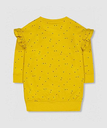 my k mustard spot sweat dress