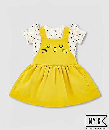 my k cat pinny and bodysuit set