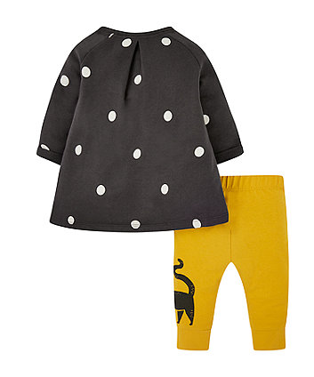 my k spot dress and cat leggings set