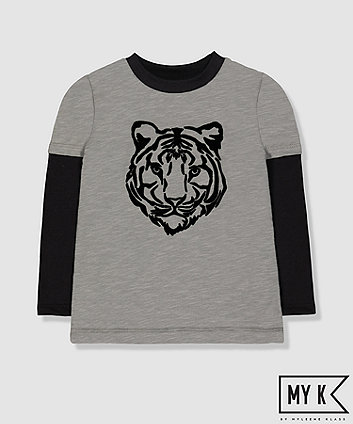 my k grey tiger t-shirt