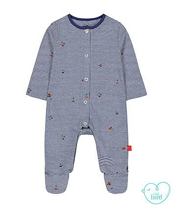 little bird navy striped all in one