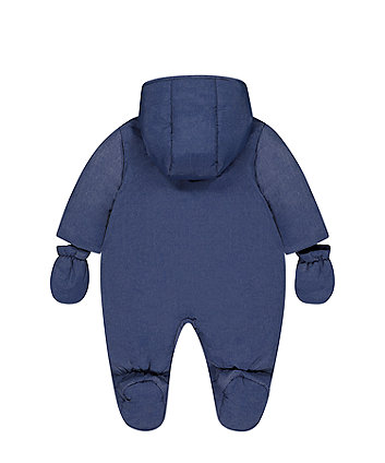 little bird blue stripe snowsuit