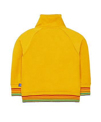 little bird mustard tricot jacket