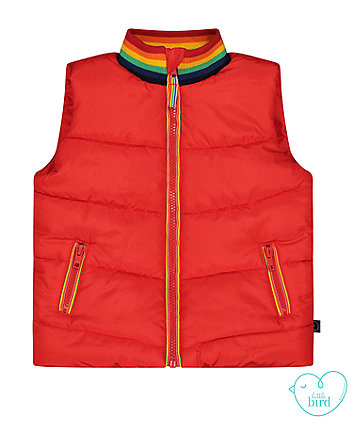 little bird red gilet