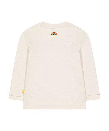 little bird white rainbow stripe t-shirt