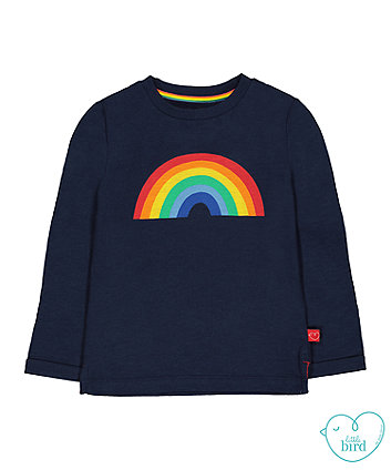 little bird navy rainbow t-shirt
