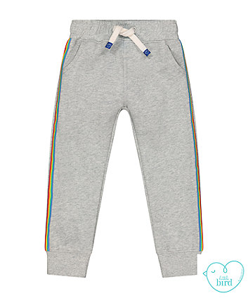 little bird grey side-tape joggers