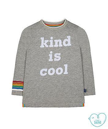 little bird grey kind is cool t-shirt
