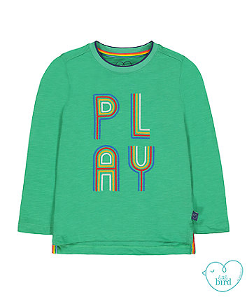 little bird green play t-shirt