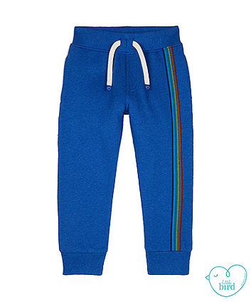 little bird blue rainbow stripe joggers