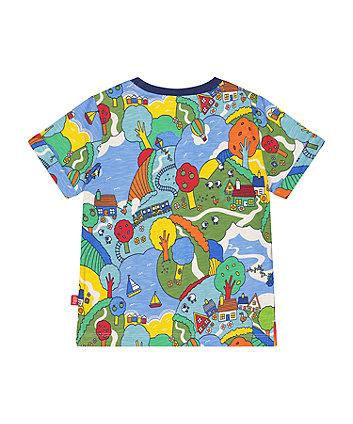 little bird sunny day scene t-shirt