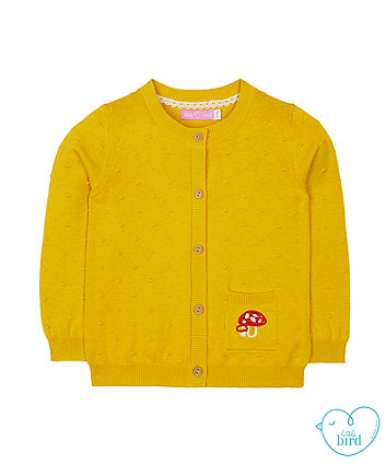 little bird mustard mushroom dobby cardigan