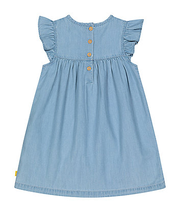 little bird chambray rainbow dress
