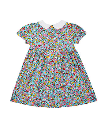 little bird floral smock dress