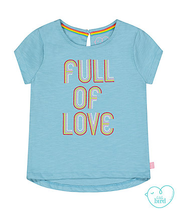 little bird blue full of love t-shirt