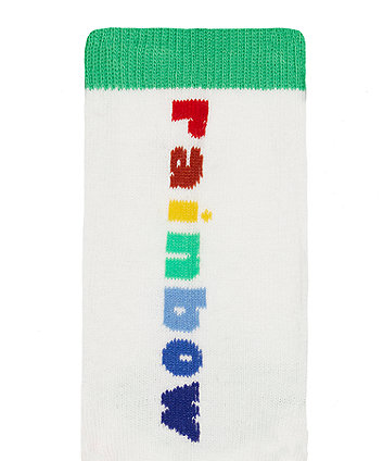 little bird rainbow socks - 5 pack
