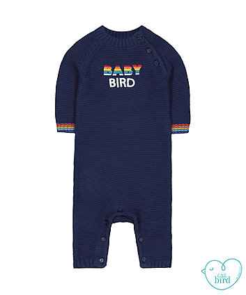 little bird navy knitted all in one
