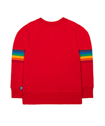 little bird red fun sweat top
