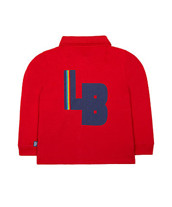 little bird red rugby top