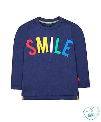 little bird navy smile t-shirt