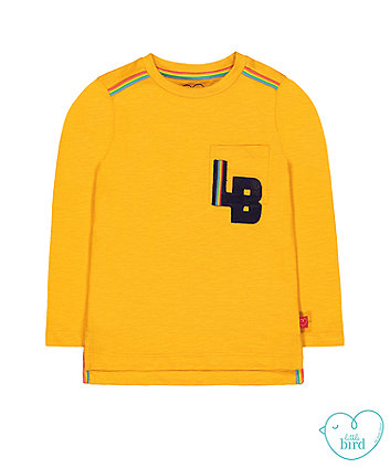 little bird mustard initials t-shirt