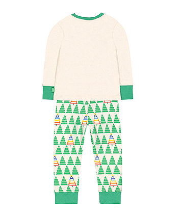 little bird christmas tree pyjamas