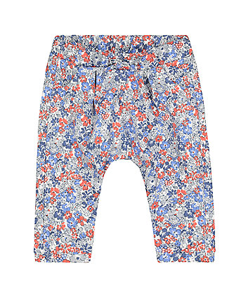 ditsy floral harem joggers