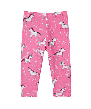 pink unicorn leggings