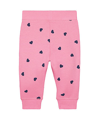 pink navy heart joggers