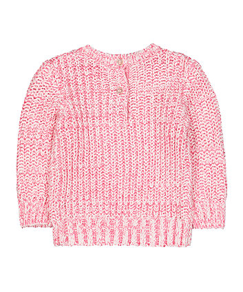 pink twist yarn knit jumper