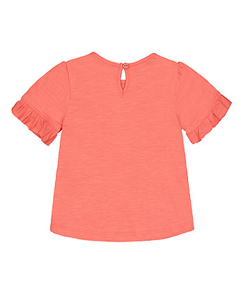 coral heart t-shirt