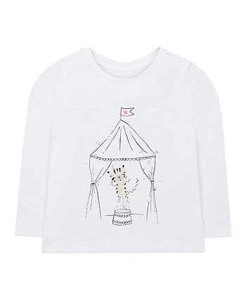white tiger circus tent t-shirt