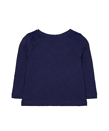 navy crochet t-shirt