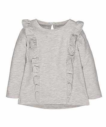 grey frill t-shirt