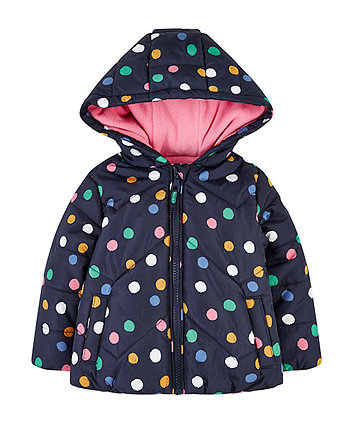 spotty fleece-lined jacket