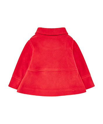 red fleece swing jacket