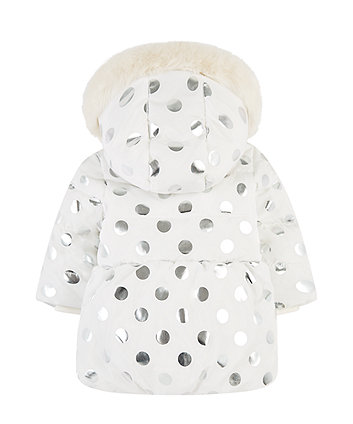 foil spot padded coat with borg lining