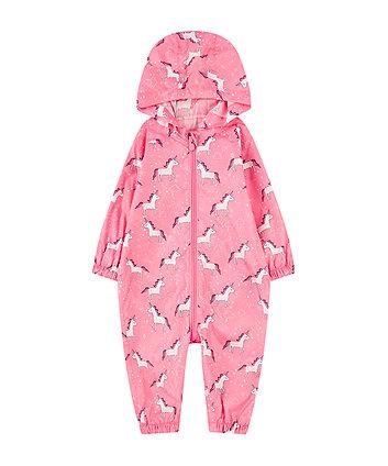 pink unicorn puddlesuit