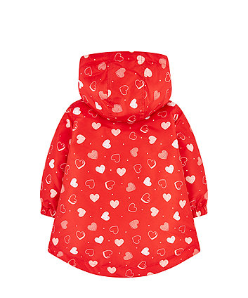 red heart fleece-lined mac
