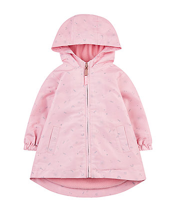 pink star fleece-lined mac
