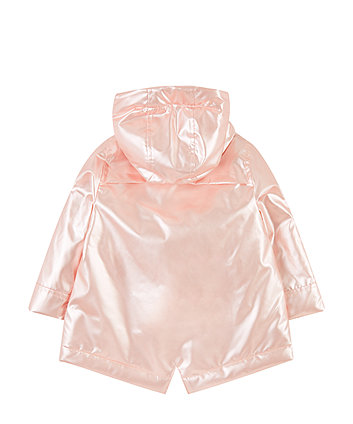 pearl pink rainy cloud fleece-lined mac