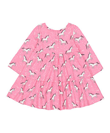 pink unicorn tiered dress