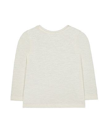 cream cat t-shirt