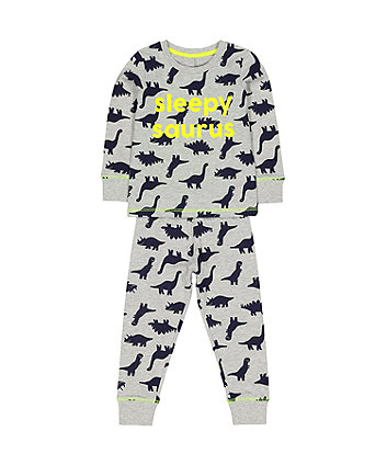 grey dinosaur pyjamas